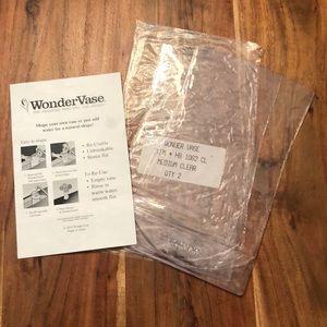Wonder Vase Set 2 Medium Size Clear